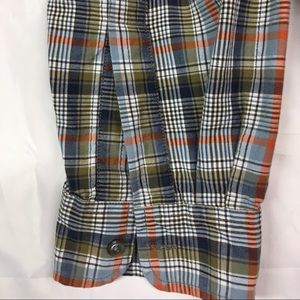 Nautica Shirts - Nautical Medium Long Sleeve Bl/Green Plaid Shirt